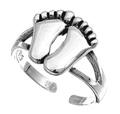 Sterling Silver Two Feet Toe Ring SITR8310