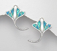 Sterling Silver Stingray Post Earrings 252