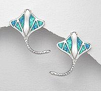 Sterling Silver Stingray Post Earrings 252