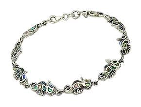Sterling Silver Seahorse Bracelet
