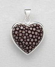 Sterling Silver Stingray Leather Pendant PP 947 (Brown)