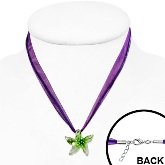 Glass Starfish Necklace 644 on neck model