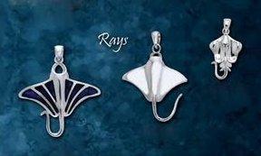 Premium Jewelry Alloy Manta Ray and Stingray Pendants