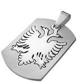 Stainless Steel Albanian Eagle Pendant 530