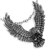 Stainless Steel Bald Eagle Necklace