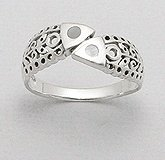 Two Fish Sterling Silver Ring 726
