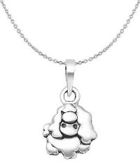 Sterling Silver Poodle Necklace 6397