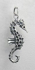 Seahorse Sterling Silver Pendant 264