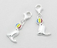 Sterling Silver Seal Clip on Charm 432
