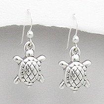 Sterling Silver Tortoise Earrings