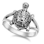 Sterling Silver Tortoise Ring SIR508