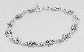 Sterling Silver Turtle Bracelet 459