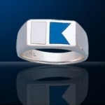 Sterling Silver Alpha Dive Flag Ring