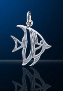 sterling silver angel fish charm