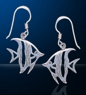 sterling silver angel fish earrings