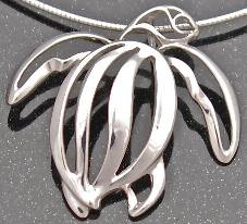 designer sterling silver leatherback sea turtle pendant