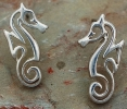 Sterling Silver Artistic Seahorse Post Earrings