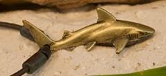 Designer Brass Plated Grey Reef Shark Necklace