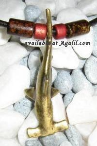 brass hammerhead shark necklace topview