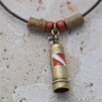 Brass Plated Scuba Tank Necklace