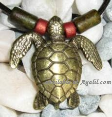 Designer Brass Plated Sea Turtle Necklace