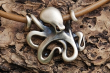 Bronze Pendant Octopus Necklace