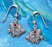 Sterling Silver Butterfly Fish Earrings DE 0261