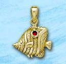 Butterfly Fish Pendant DP 3226 in gold