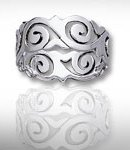 Sterling Silver Celtic Wave Ring DWR 424