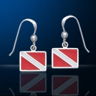 sterling silver dive flag jewelry