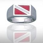 Sterling Silver Dive Flag Ring DDFR 372