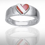 Sterling Silver Dive Flag Ring DDFR 375