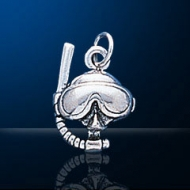 Sterling Silver Dive Mask Charm