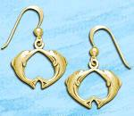 dolphin earrings DE 8208 in gold
