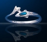sterling silver dolphin ring DSDR 009