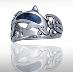 sterling silver dolphin ring DSDR 7184
