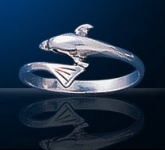 sterling silver dolphin ring DSDR 806