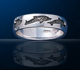 sterling silver dolphin band ring