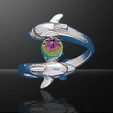sterling silver double dolphin ring DDDR 120