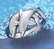 dolphin sterling silver rings WR 205