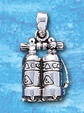 Sterling Silver Double Scuba Tanks Pendant