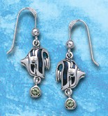 Sterling Silver Angel Fish Earrings DE 8250