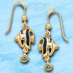 Angel Fish Earrings DE 8250 in gold