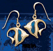 Angelfish Earrings DE 097 in gold