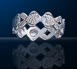 sterling silver fish ring DFR 497