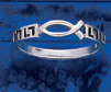 Sterling Silver Jesus Fish Symbol Band Ring DFR 1134