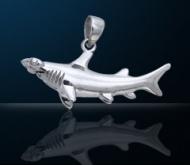 Sterling Silver Hammerhead Shark Pendant PP 351