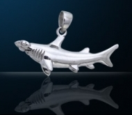 Sterling Silver Hammerhead Shark Pendant
