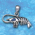 Sterling Silver Lobster Pendant with Paua shell DP 2424
