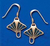 Manta Ray Earrings DE 0250 in gold